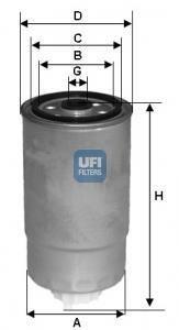 Топливный фильтр UFI 24.351.01